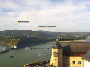 Burg Waldeck - Interaktiv Panorama