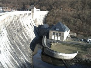 Webcam Staumauer Edersee Luftseite